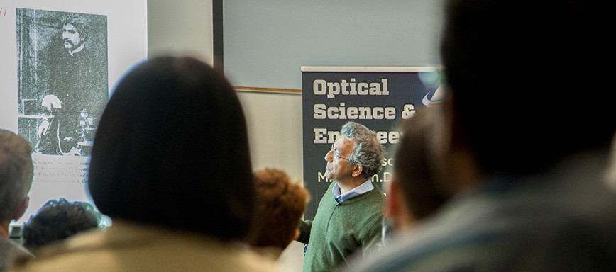 Nader Engheta conducts class in OSE Distinguished Lecture Series